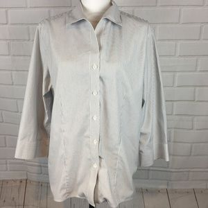 Gold Label Investments Non Iron Button Up Top